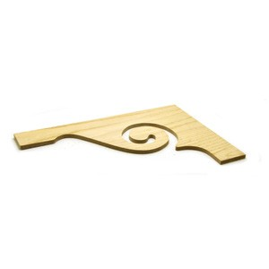 Stair Parts Brackets T-104 (7029) Scroll Red Oak