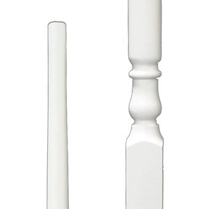 Stair Parts Baluster 5015 Primed White 39 inch Pintop