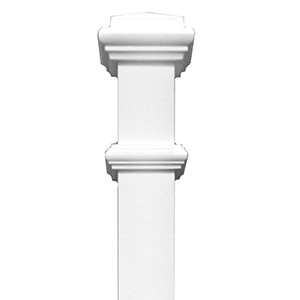 Stair Parts Newel 4075 Primed White 3 1/2 inch x 60 inch