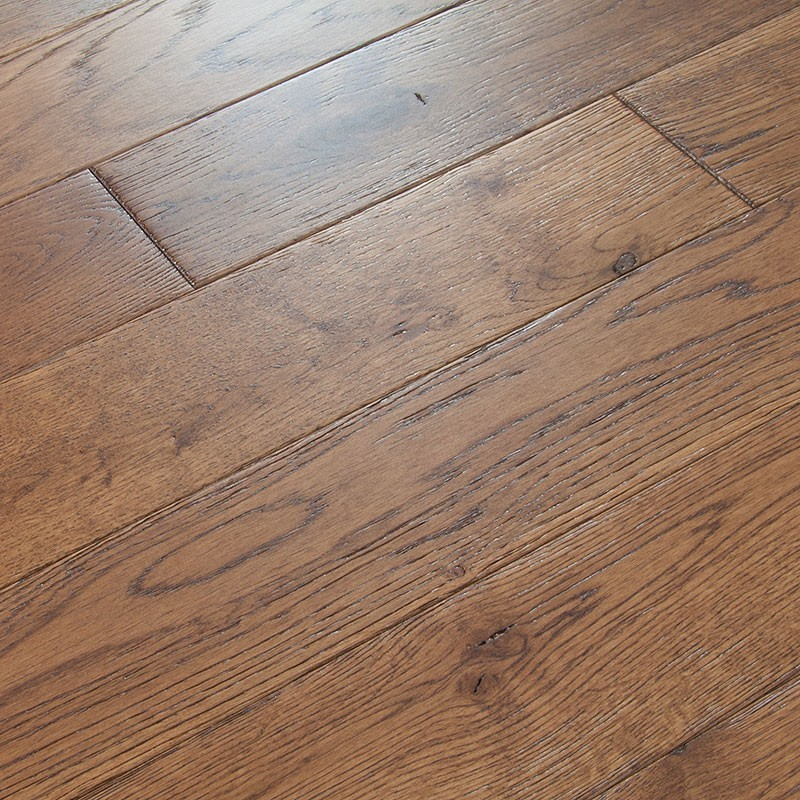 Distressed White Oak Wire Brushed