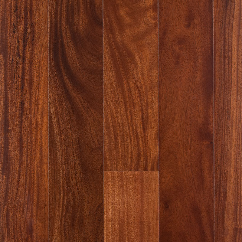Woods of Distinction Elegant Exotic Collection Eng. East African Mahogany Natural 4 3/4 x 1/2 32.9 sf/ctn