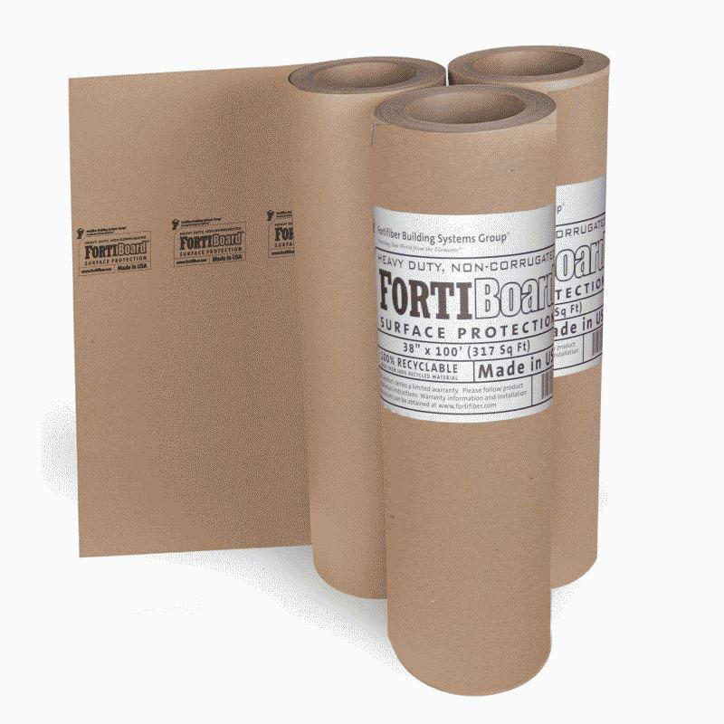 Fortifiber Fortiboard Surface Protection 38 inch x 100 feet 317 sf/roll