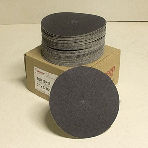 Johnson Abrasives Sharp-Kut Disc 7 inch x 5/16 inch 100-2/0 grit 100 disc package