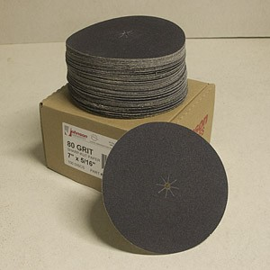 Johnson Abrasives Sharp-Kut Disc 7 inch x 5/16 inch 80-1 grit 100 disc package