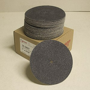Johnson Abrasives Sharp-Kut Disc 7 inch x 5/16 inch 36-2 grit  50 disc package
