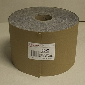 Johnson Abrasives Sharp-Kut Roll 8 inch x 50 yds 40 - 1 1/2 Grit 1 roll