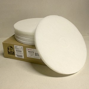 Johnson Abrasives Thick White Pad (Polish) 17 inch 5 pad package