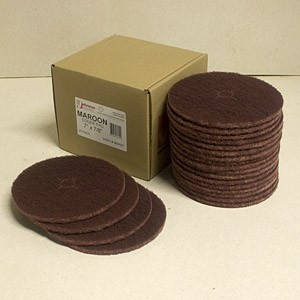Johnson Abrasives Edger Pad (Maroon Nylon) 7 inch x 7/8 inch 20 Pad Package