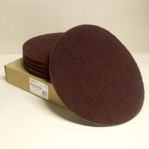 Johnson Abrasives Buffa Pad (Maroon Nylon) 17 inch x NH 10 pad package