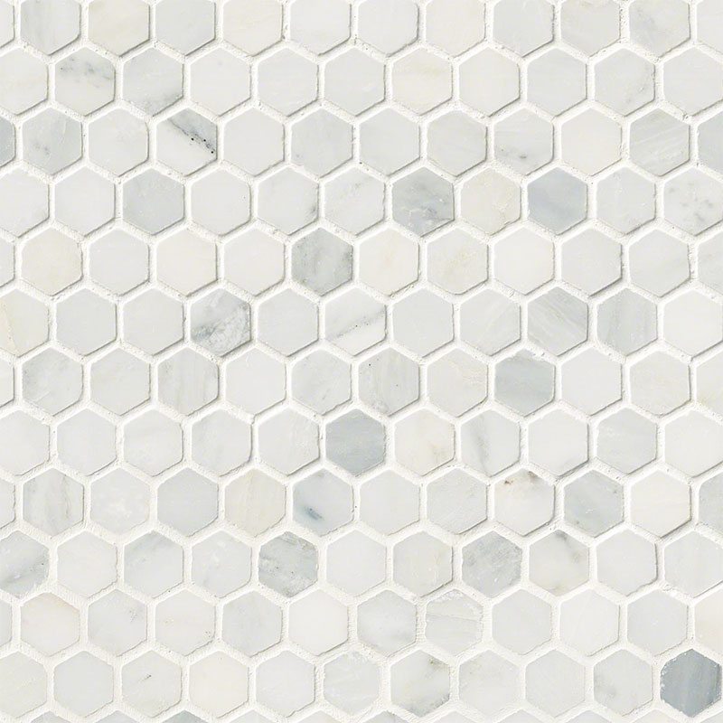 Wood Floors Plus BacksplashWalls MSI Mosaic Arabescato Carrara - 10 inch hexagon tile