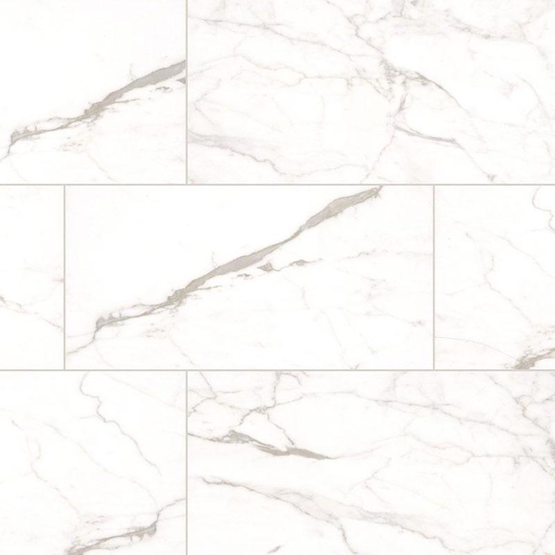Msi Premium Ceramic Tile 12 X 24 White Vena Matte 16 Sf Ctn