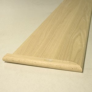Treads 11 1/2 x 48 Red Oak Mitre Return Reversible
